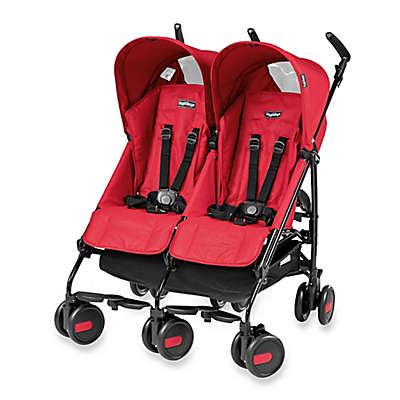 Peg Perego Pliko Mini Twin Stroller in Mod Red