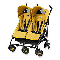 Peg Perego Pliko Mini Twin Stroller in Mod Yellow