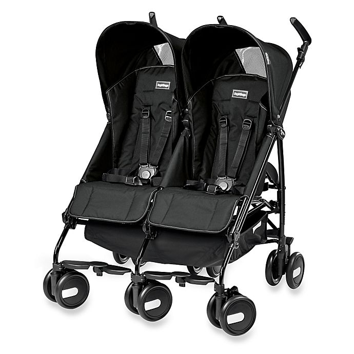 Alternate image 1 for Peg Perego Pliko Mini Twin Stroller in Onyx