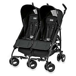 Peg Perego Pliko Mini Twin Stroller in Onyx