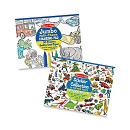 Melissa & Doug® Multi-Theme Coloring and Sticker Pad Bundle