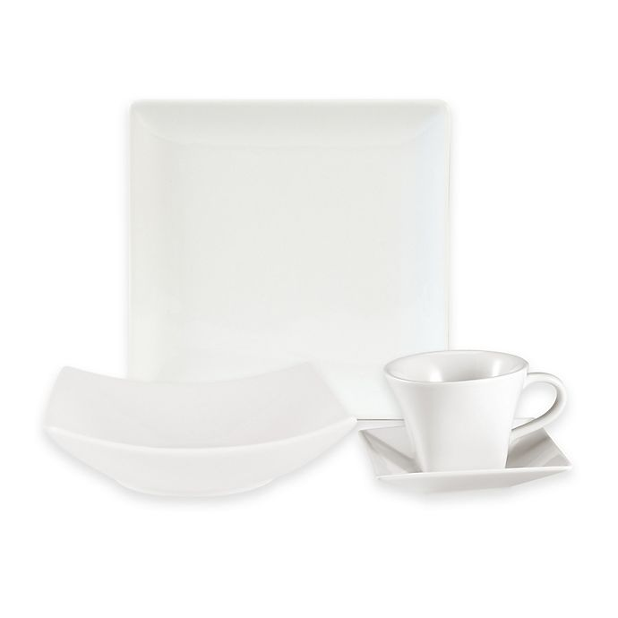 Alternate image 1 for Everyday White® by Fitz and Floyd® Hard Square Dinnerware Collection