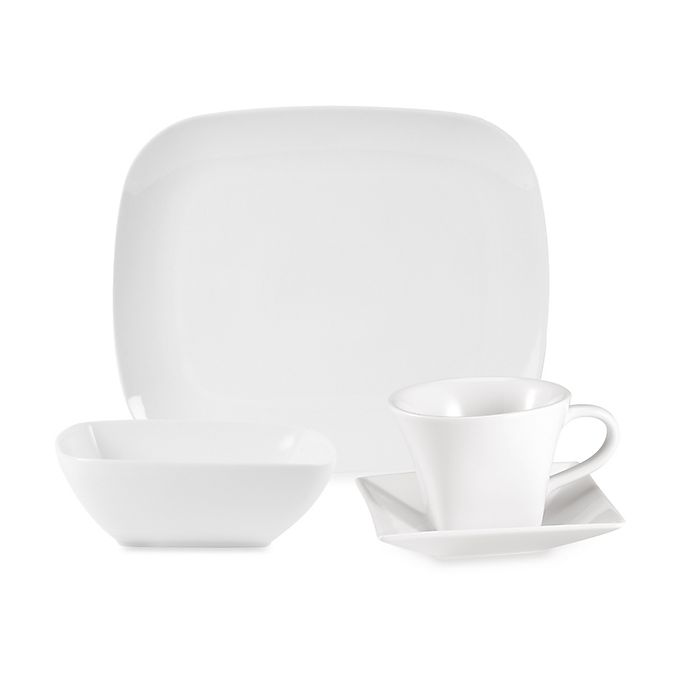 Alternate image 1 for Everyday White®  by Fitz and Floyd® Rectangular Dinnerware Collection