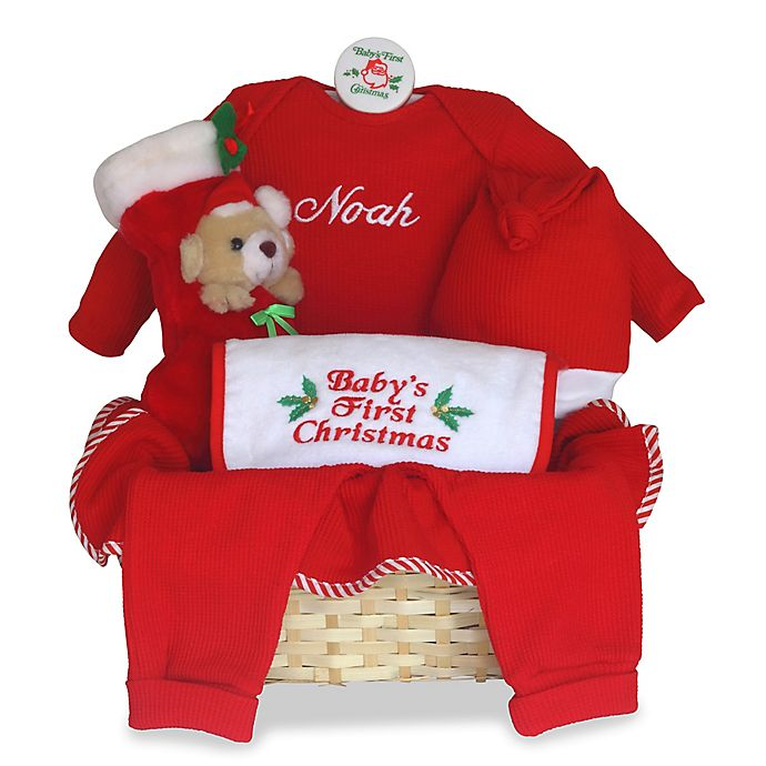 alternate image 1 for silly phillie creations babys first christmas gift basket