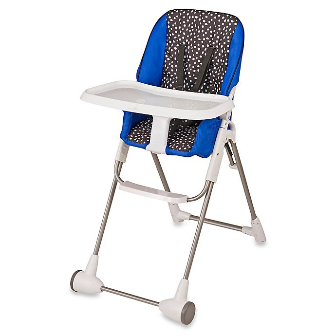 Alternate image 1 for Evenflo® Symmetry™ Hayden Dot High Chair in Blue/Black