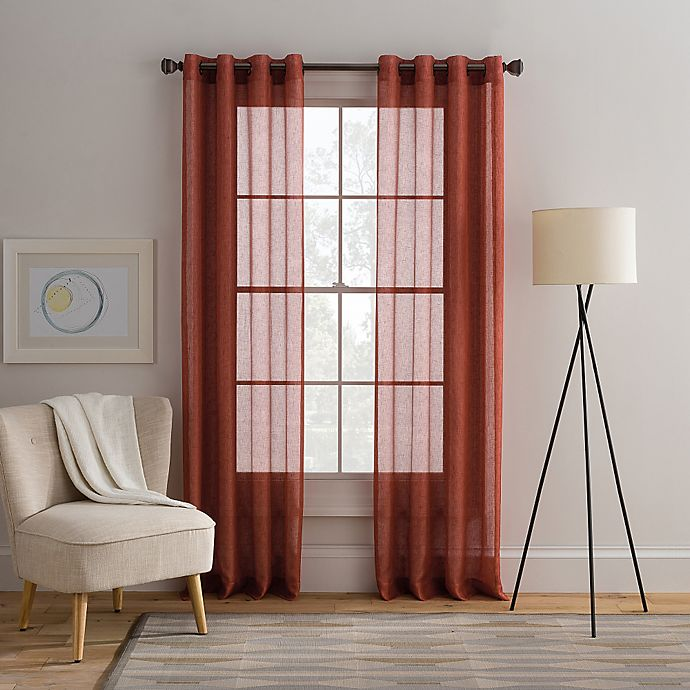 Alternate image 1 for Cambria® Alix Grommet Top Sheer Window Curtain Panel