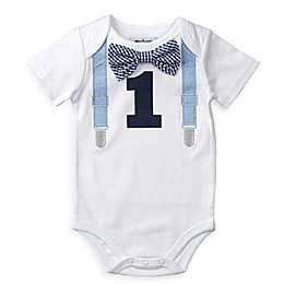 Mud Pie® 1st Birthday Bodysuit in White