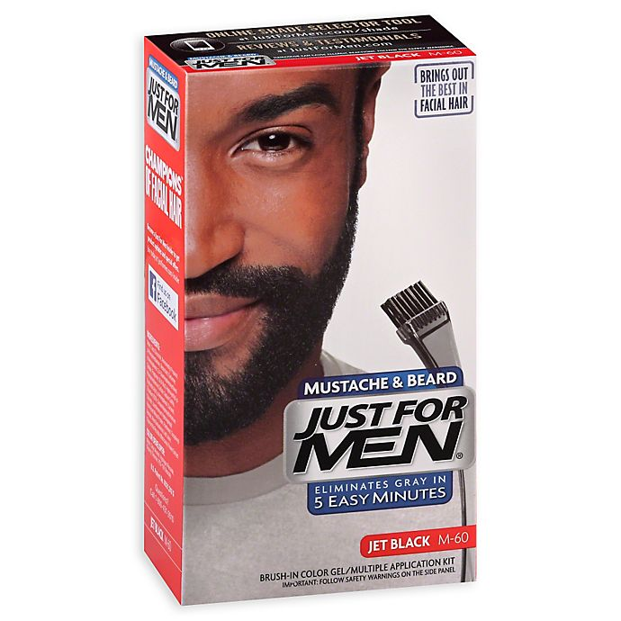 Prime Just For Men Mustache And Beard Brush In Color Gel In Jet Black Natural Hairstyles Runnerswayorg