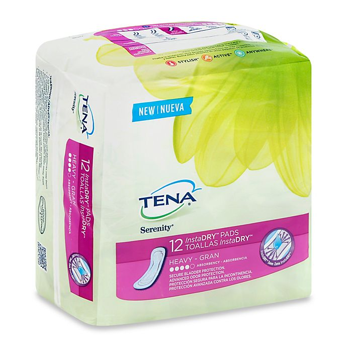 Alternate image 1 for Tena® Serenity 12-Count InstaDRY Heavy Absorbency Pads