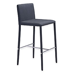 Zuo® Confidence Counter Chair in Black (Set of 2)