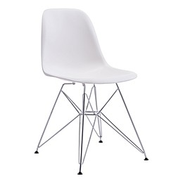Zuo® Zip Dining Chair in White