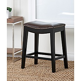 Abbyson Living® Rivoli Counter Stool in Dark Brown