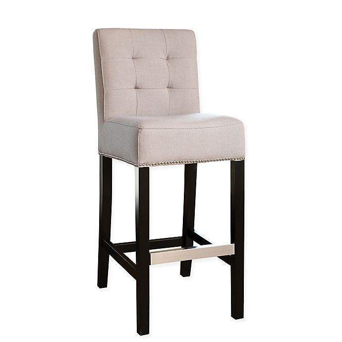 Alternate image 1 for Abbyson Living® Masimo Linen Bar Stool in Beige