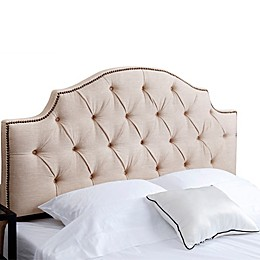 Abbyson Living® Mia Tufted Linen Full/Queen Headboard in Wheat