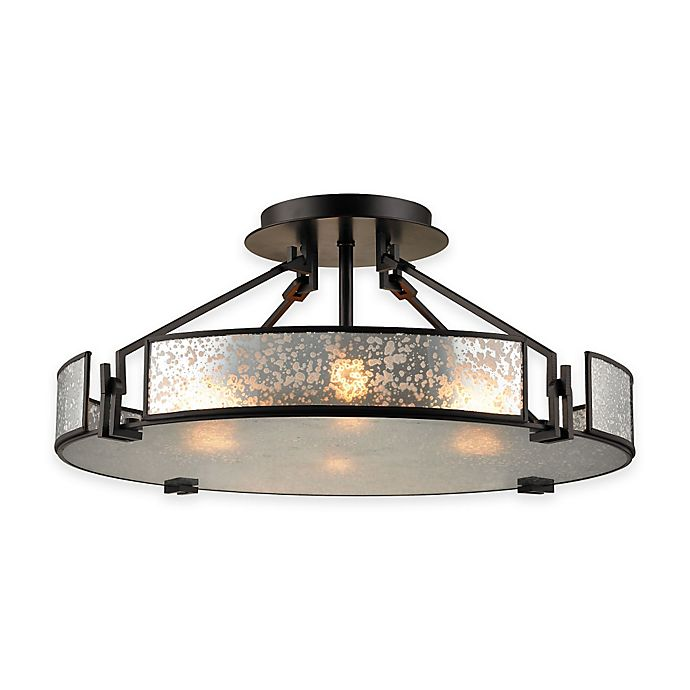 Elk Lighting Fans: ELK Lighting Lindhurst 4-Light Pendant In Oil-Rubbed