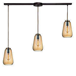 ELK Lighting Orbital 10-Inch 3-Light Large Pendant in Oil Rubbed Bronze with Glass Shade