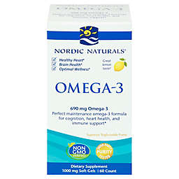 Nordic Naturals® 60-Count Omega-3 Lemon Soft Gel Supplement