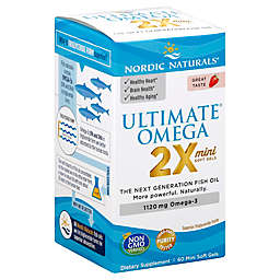 Nordic Naturals® 60-Count Ultimate Omega 2X Mini Soft Gel Supplement