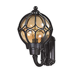 ELK Lighting Madagascar Medium 1-Light Outdoor Wall-Mount Sconce in Matte Black