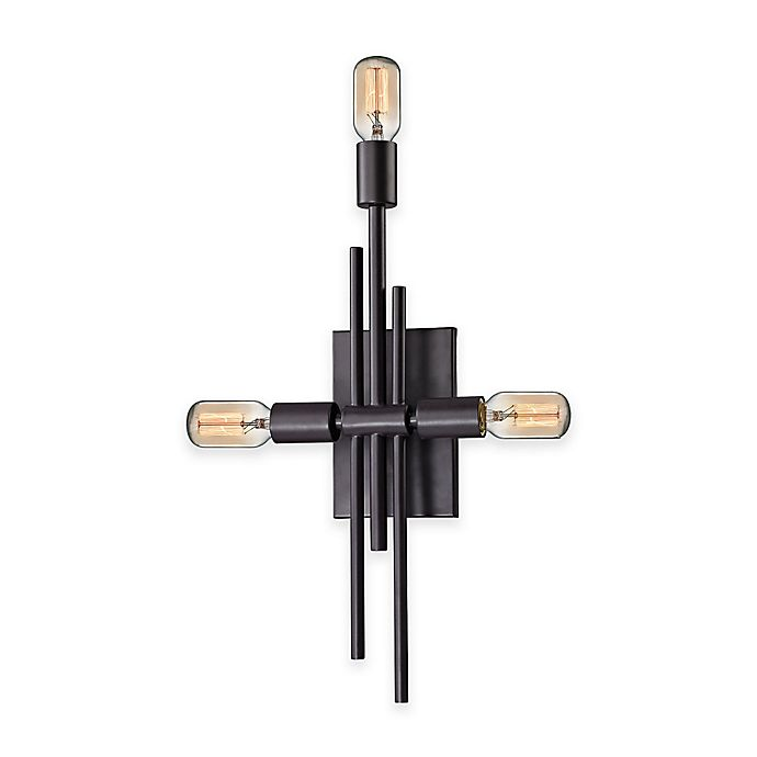 Alternate image 1 for Elk Lighting Parallax 3-Light Wall Sconce in Oil Rubbed Bronze