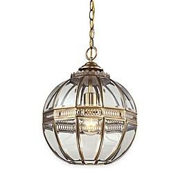 Elk Lighting Randolph 1-Light Pendant in Brushed Brass with Glass Shade