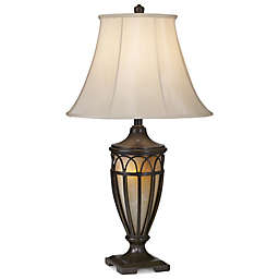 Pacific Coast® Lighting Lexington Table Lamp in Florida Bronze with Gold and Bell Shade
