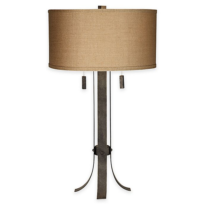 Pacific Coast Lighting Pullman 2 Light Table Lamp In Grey