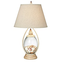 Pacific Coast® Lighting Seascape Reflections Table Lamp in Coraline Ivory with Linen Shade