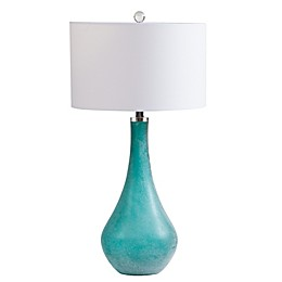 INK+IVY Cove Art Glass Table Lamp in Blue/Green