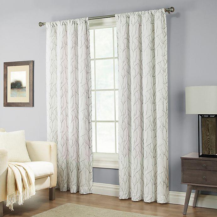 Alternate image 1 for Pinehurst 63-Inch Rod Pocket Window Curtain Panel in Silver