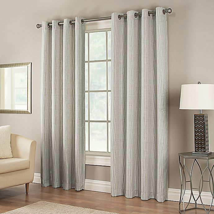 Alternate image 1 for Waterfall 84-Inch Grommet Lined Window Curtain Panel in White