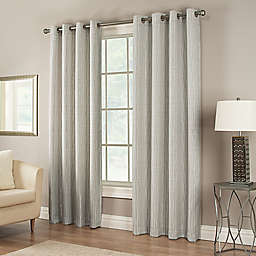 Waterfall 95-Inch Grommet Lined Window Curtain Panel in White