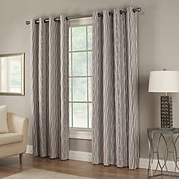 Waterfall 84-Inch Grommet Lined Window Curtain Panel in Chocolate
