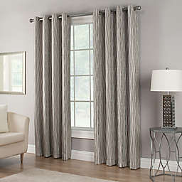 Waterfall Grommet Top Lined Window Curtain Panel