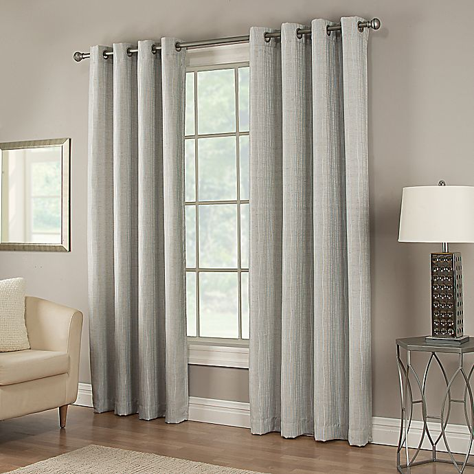 Alternate image 1 for Waterfall 95-Inch Grommet Lined Window Curtain Panel in Sky