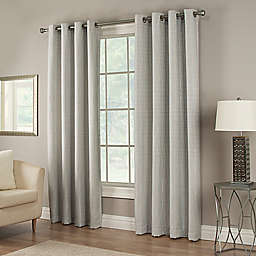 Waterfall 95-Inch Grommet Lined Window Curtain Panel in Sky