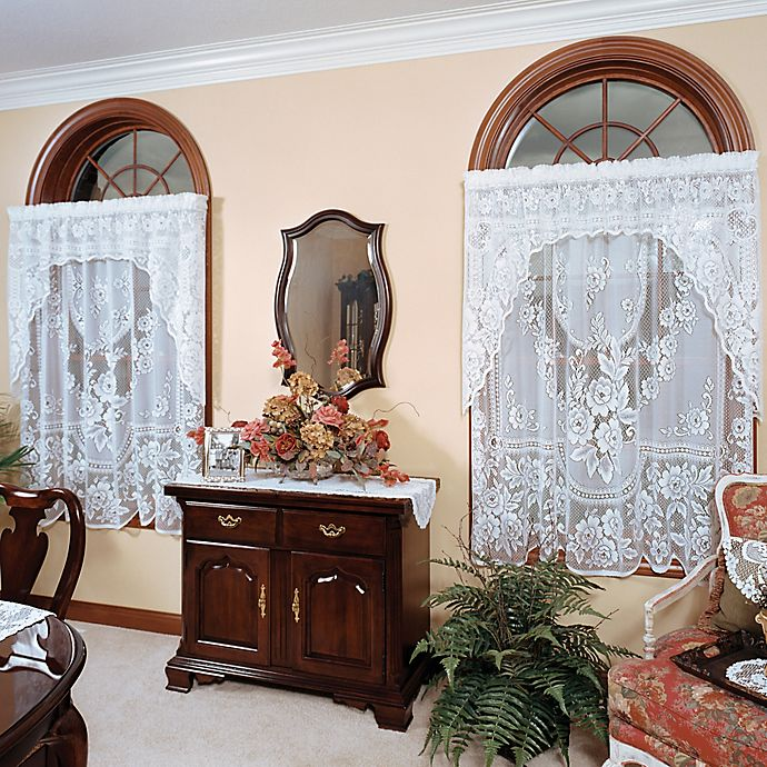 Heritage Lace 174 Victorian Rose Window Curtain Panel And