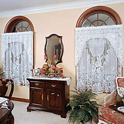 Heritage Lace® Victorian Rose Window Curtain Panel and Valance
