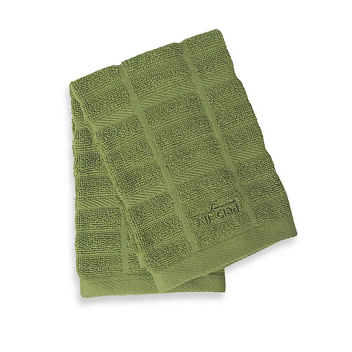 Alternate image 1 for All-Clad Solid Dish Cloths in Sage (Set of 2)