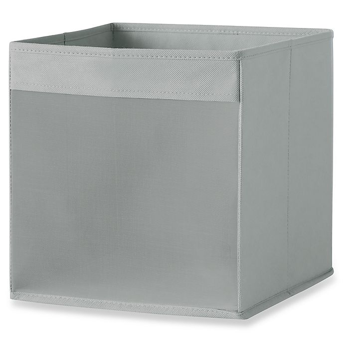 Alternate image 1 for Real Simple® Mesh Front Foldable Storage Bin