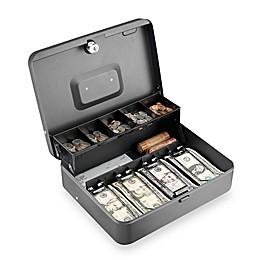 Steelmaster 2216194G2 Key Lock Tiered Tray Cash Box in Grey
