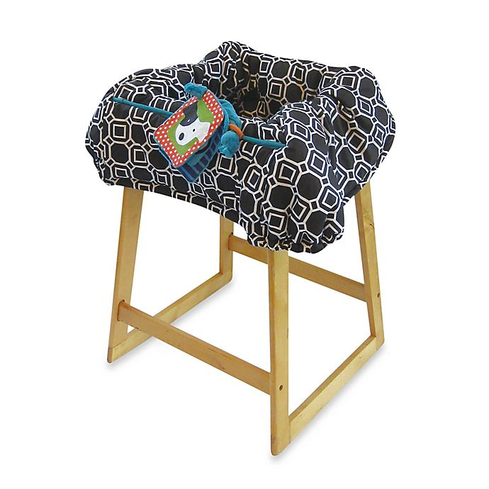 Alternate image 1 for Boppy® Shopping Cart and High Chair Cover in City Squares Black/White