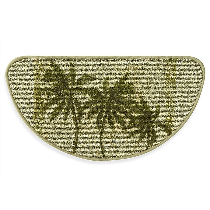 Alternate image 1 for Bacova Paradise Palm 18-Inch x 31.5-Inch Berber Kitchen Rug