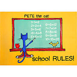 Pete The Cat Elementary School Rules 6' x 9' Area Rug