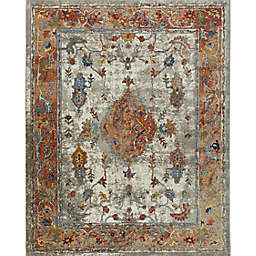 Home Dynamix Nicole Miller Parlin Aster 6' x 9' Area Rug in Ivory/Rust