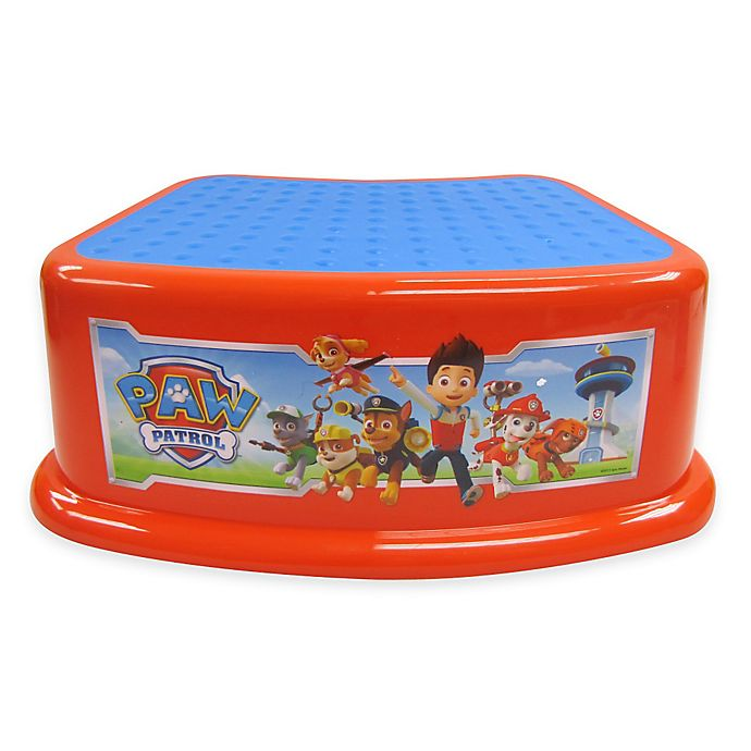 Fantastic Nickelodeon Paw Patrol Contour Step Stool In Red Bed Bath Ncnpc Chair Design For Home Ncnpcorg