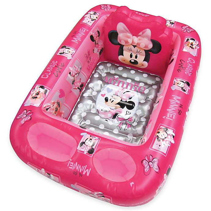 Alternate image 1 for Disney® Minnie Mouse Inflatable Bath Tub