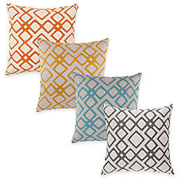 Surya Avellino Geometric Square Throw Pillow