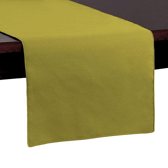 Alternate image 1 for Basic Polyester 54-Inch Table Runner in Acid Green