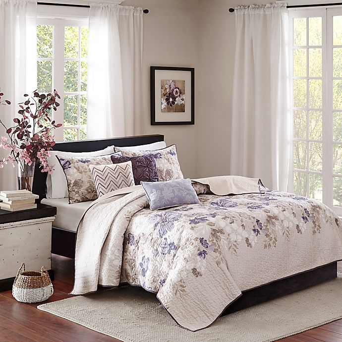 Alternate image 1 for Madison Park Luna Full/Queen Coverlet Set in Taupe